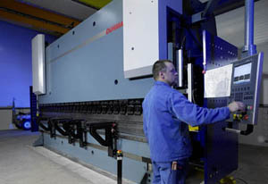 Used press brake operation