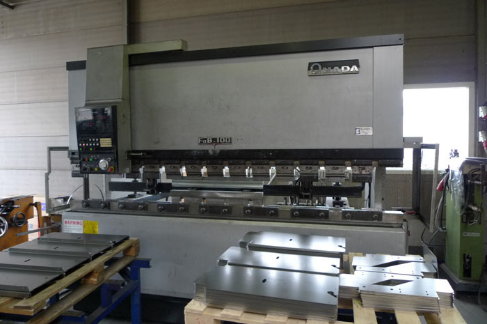 Used press brake front view