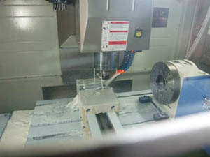 Detail of a used vertical machining centre
